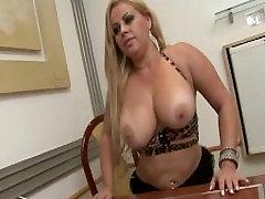 Big Tits Blonde on work fucking and sucking