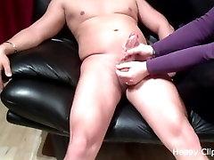 Amateur BBW sloppy Handjob