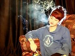 Cute Teen Smoking All Whites