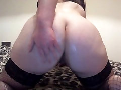 Chubby Teen Fingering and Toying Ass