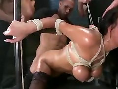 Brutal BDSM double penetration. www.CuteSexyCams.com