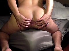 Bend over and spreading my ass
