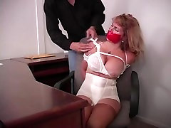MILF Gets a Little Tied Up At The Office