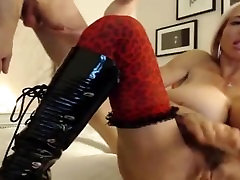 Granny BIg tits and Dental Floss dick in web cam live streaming