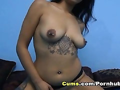 Exotic Asian Babe Fucks her Pussy
