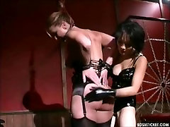 Asian Mistress spends a litle quality time with one of her slave girls