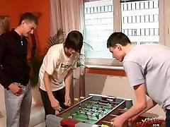 young threesome bareback player 18