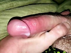 Mr. K rubbing his big pink cock for me. Yummy Cum