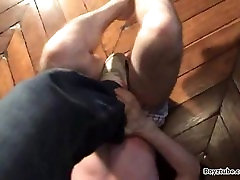 slave dude getting stomp out stepped on dominated