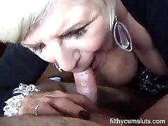 Blonde mature blowjob & tittyfuck - filthycumsluts.com