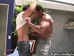 Fiesty Muscled Hunks Poolside