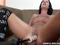 Debrah Ann gets fucked with power tools and squirts