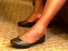 Candid Ebony Shoeplay