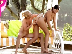 Nice ass lesbians Judit and Isabella outdoors fun by Sapphic Erotica