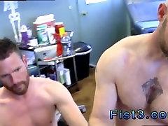 Silver daddies cum sucking gay First Time Saline Injection for Caleb