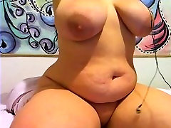 BBW blonde mommy shows me off her melons and monster booty