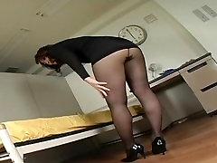 Japanese Av Model Shame ! Voyeur : Hairy Pussy Through Pantyhose ! 13