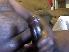 Hairy Black Bear Shooting Cum