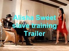 BDSM model Alisha Sweet applying for a slave training