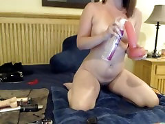 Squirting And Cumming All Over My Big Black Dildo!