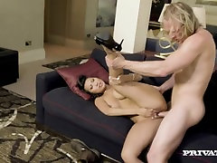Asian Babe Sharon Lee Gets Takes a Cumshot to her Big Tits