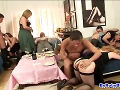 four mature women in orgy