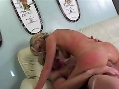 Rough anal sex for a blond girl