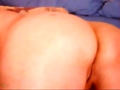 Blond BBW Finger ass and pussy