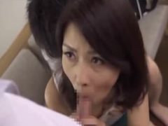 Mature Asian Woman Tastes Younger Cocks