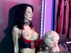 Dominatrix Nina Harltey Playing With Sex Slave bdsm bondage slave femdom domination