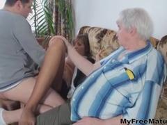 Sexy Hottie And 2 Bastards mature mature porn granny old cumshots cumshot