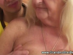 Young guy wants mature blowjob from granny