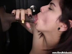 Gloryhole Secrets Thick latina gets mouthfulls of cum 2