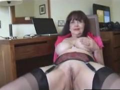 Find her on MATURE-FUCKS.COM - horny big tit mature tease 3