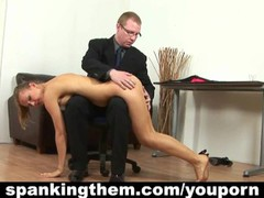 Spanking his secretary