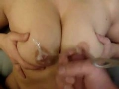 Chubby gfs nice big tits fucked and cummed on nipples