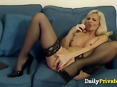 English old MILF with sexy lingerie