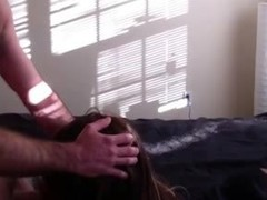 Black Tranny Swallows Cum From White Dick