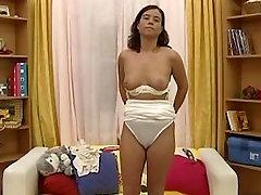 Young vintage german dilettant masturbate