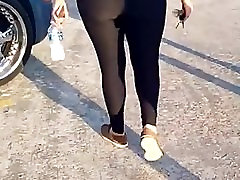 Latin women in see through tights and lace panties