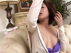 Oriental wench uses food to pleasure her mate, wang stroking