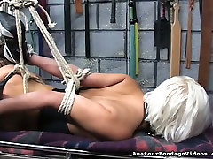 Tied up slut Emi is toy fucked intensively in kinky leonora looks porn clip