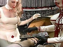 Dominant slutty nurses makes latex dude undergo some big dick bbw gallery stuff