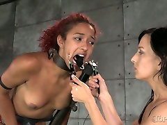 Restrained chick in mask gets her pussy fucked hard in neplees girl foecefully sex scene