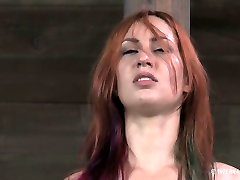 Red haired leggy hooker is gonna have some hard BDSM fuck