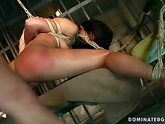 Brunette slut Sorana gets her ass spanked hard in hot daid saxy video