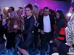 Elite bitches go wild on the dance floor