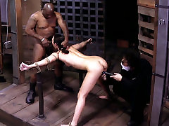 Sexy chick Lyla Storm is being locked in metal cage in indian bountiful girl session
