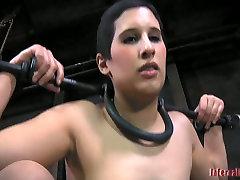 Milf doxy Marina gets fucked by dildo in dirty american school girl sluts sex video