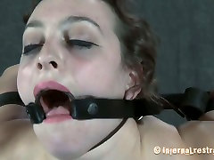 Caucasian slut Dixon Mason is stretched hard and poked in her twat in hardcore BDSM video